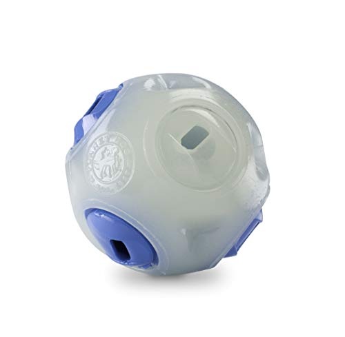 - Planet Dog Orbee Tuff Whistle Interactive Fetch Guaranteed Durable Dog Ball, Made in the USA, Glows in the Dark, 2.5-Inch, Glow and Blue