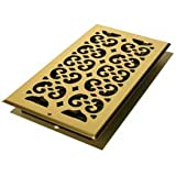 Decor Grates Décor SP614W-NKL Scroll Plated Wall Register, Nickel, 6 14-Inch