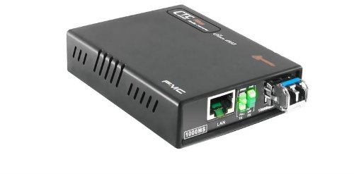 FMC-1000MS-MM Gigabit Ethernet 10/100/1000BaseTx to 1000Base-SX 850nm multi-mode fiber media converter - WebSmart managed by CTCUnion