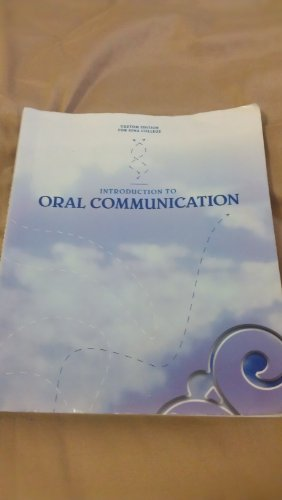 Introduction to Oral Communication: Custom Edition for Iona College