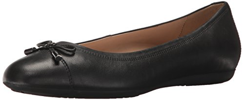 Geox Women's Lola 108 Ballet Flat, Black, 37.5 EU/7.5 M US (Flats Geox Leather)