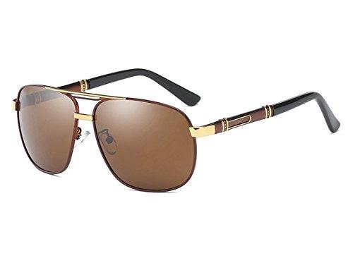 brown UV400 Conducción Espejo TL Sunglasses de de polarizadas Negro Gafas Gris Mujer Sol la Hombres Sol Gris Hombre de Gafas Vintage 1Cg1xqwR