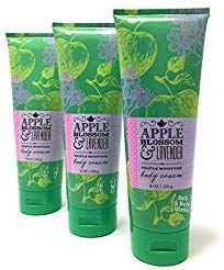 Bath & Body Works Apple Blossom & Lavender Body Cream, 8 Ounce (Pack of 3)