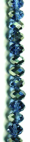 Sulyn 7in Bead Strand Large Wheel Faceted, Silver Crystal for Craft and (Crystal Wheel Beads)