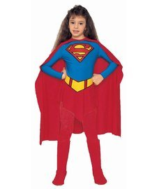 Super Size Costumes (Supergirl Child Halloween Costume Size 4-6 Small)