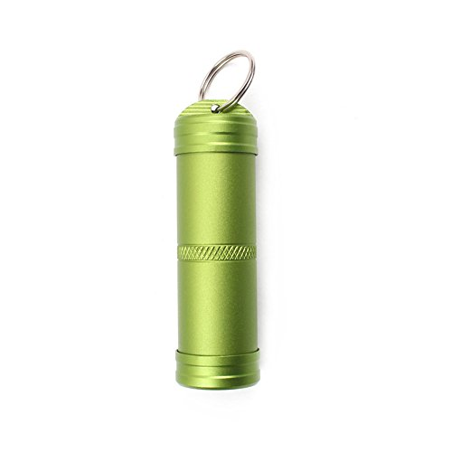 ALTTIMERY Aluminum Alloy Waterproof Sealed Container Box Portable Survival EDC Pill Match Case Outdoor Emergency Gear (Green, Large) (Waterproof Small Container compare prices)