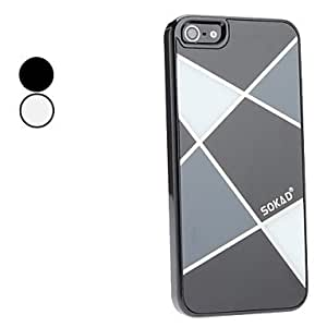 SOKAD Exquisite Design Mirror Surface Durable Hard Case for iPhone 5/5S (Assorted Colors) - COLOR#Black