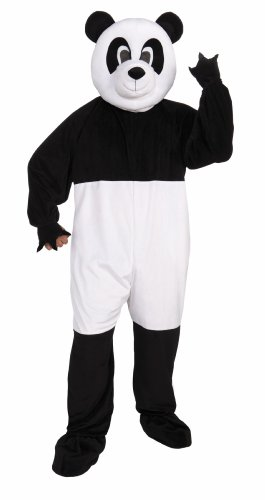 Forum Promotional Mascot Panda Costume, Black/White, Standard -