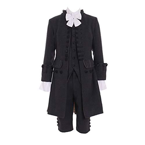 Victorian Soldier Costume (1791's lady Mens Medieval Victorian Vintage Tudor Suit Uniform Costume-XL)