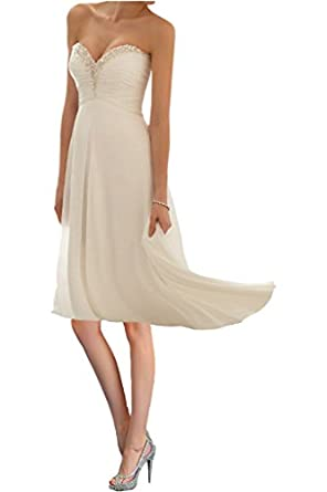 Promgirl House Damen Glamour Traegerlos A-Linie Chiffon Abendkleider ...
