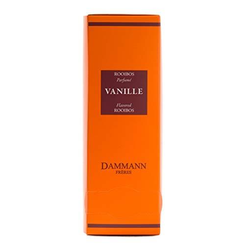 DAMMANN FRERES - Rooibos VANILLA Tea - 24 wrapped crystal envelopped tea bags