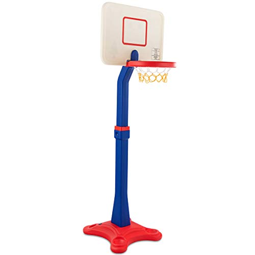 Costzon Kids Basketball Stand, Basketball Hoop Adjustable Height, Kids Play Toy, Portable Design Indoor Outdoor (Height Adjusts from 63''- 85'')