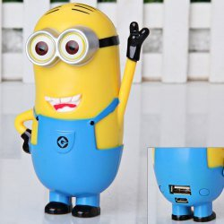 Animation Movie   Despicable Me 2 Minion Kevin 6600mAh Mobile Power Bank  External Battery Portable Charger