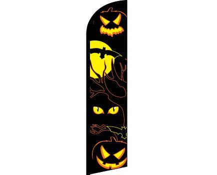 Halloween Eyes Windless Banner (Restaurant Halloween Discounts)