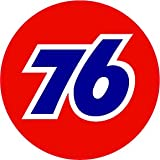 "Union 76 Gasoline Decal is 5"" in size with in the United States"
