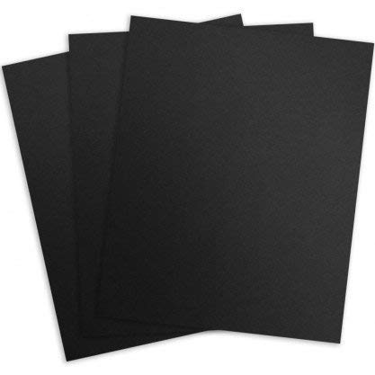 CFS Products Binding Linen Presentation Covers, Letter, Black, 200 Pack 8.5'' X 11'' Compatible with GBC, Fellowes, Trubind and More by CFS Products