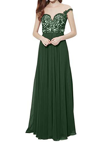 Brautmutterkleider Gruen Festlichkleider mia Durchsichtig Abendkleider Braut Neu Elegant Spitze Partykleider Promkleider 2018 Dunkel La Lang UAS7xwq