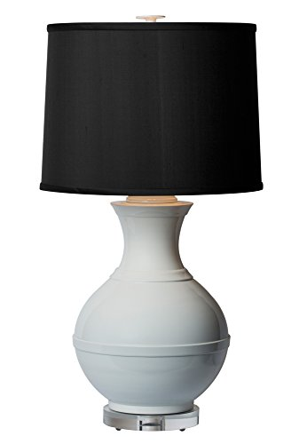 Thumprints 1207-ASL-2137 Saturn Table Lamp, White Gloss Finish