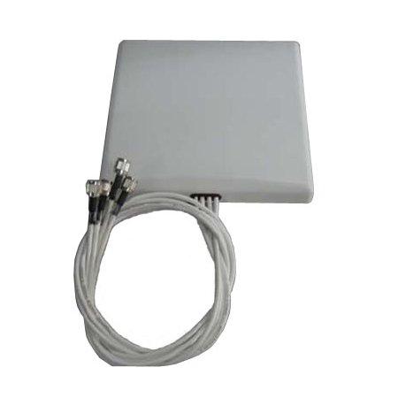 TerraWave M6060060MP1D43602 349502 MIMO Quad Patch Antenna, RPTNC Plug Connector, 6 dBi by Ventev
