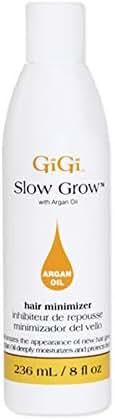 Gigi Slow Grow Lotion with Argan Oil, 8 Fluid Ounce