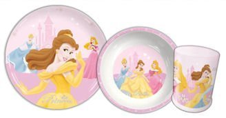 Disney Princess - Children's 3 Piece Dinner Set Including, tumbler, plate and bowl - Great Gift Idea by Spearmark Housewares Ltd