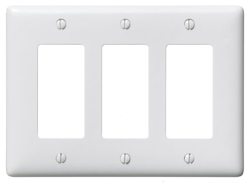 Bryant Electric NP263W 3-Gang 3 Decorator/GFCI Wall Plate, White