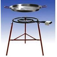 Gas-Brenner klein schwarz Burner Balkon Camping Picknick 1-flammig Grill-Set ✔ rund ✔ stehend grillen ✔ Grillen mit Gas