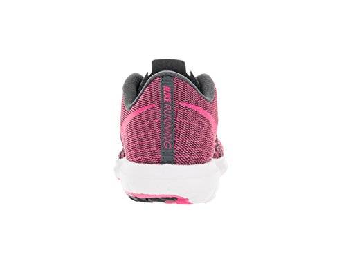 Nike Wmns Flex Fury 2 - Zapatillas de running Mujer Gris (Dark Grey / Pink Blast-White)
