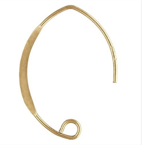 14k Gold Filled V Shape Hammered Ear Wires (Hammered Shapes)