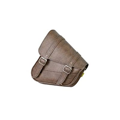 Dowco Willie & Max 59777-00 Triangulated Synthetic Leather Motorcycle Swingarm Bag: Brown, 9 Liter Capacity: Automotive