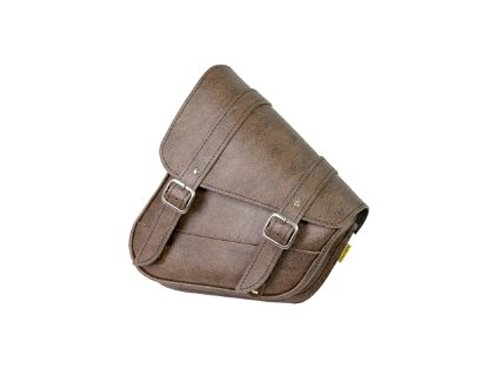 Dowco Willie & Max 59777-00 Triangulated Synthetic Leather Motorcycle Swingarm Bag: Brown, 9 Liter Capacity by Dowco