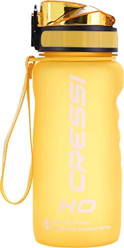 Cressi Water Bottle H20 Frosted Botella para Uso Deportivo, Adultos Unisex, Amarillo, 600 ml