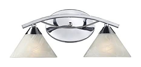 Elk 17021 2 Elysburg 2 Light Vanity In Polished Chrome