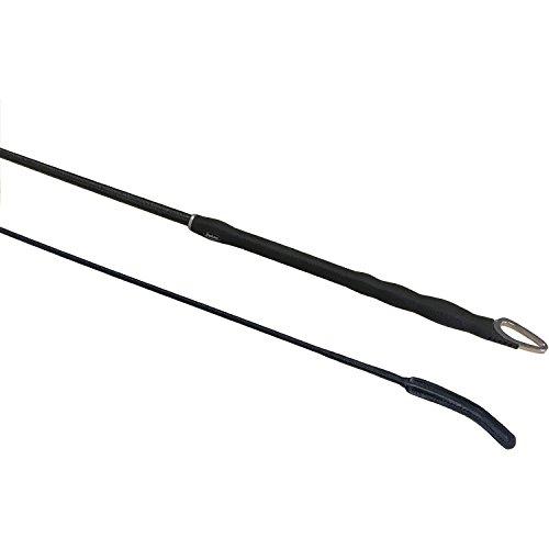 Fleck Triple Deluxe Dressage Whip 120cm Black ()