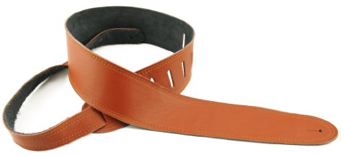 - Perris Leathers P25STIT-M 2.5-Inch Soft Garmet Leather with stitching effect Guitar Strap