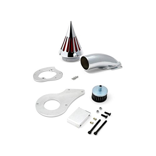 Krator Motorcycle Chrome Spike Air Cleaner Intake Filter For 1999-2004 Honda Shadow 600 / VLX600