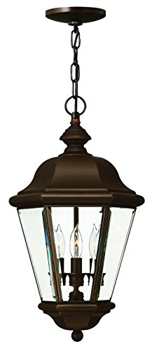 - Hinkley 2422CB Traditional Three Light Hanging Lantern from Clifton Park collection in Copperfinish,