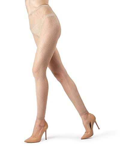 MeMoi Romantic Lace Footless Tights MO-324 Nude L/XL ()