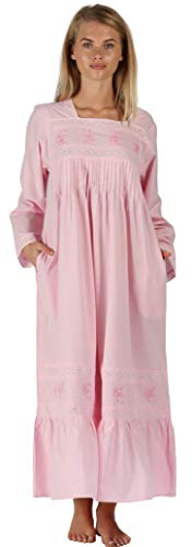 The 1 for U Cotton Nightgown with Pockets - White (XXL, Pink)