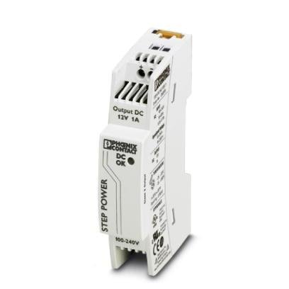 Phoenix Contact 2868538 Power Supply; AC-DC; 12V@1A; 85-264V In; Enclosed; DIN Rail Mount; STEP - Din Contact Rail Phoenix
