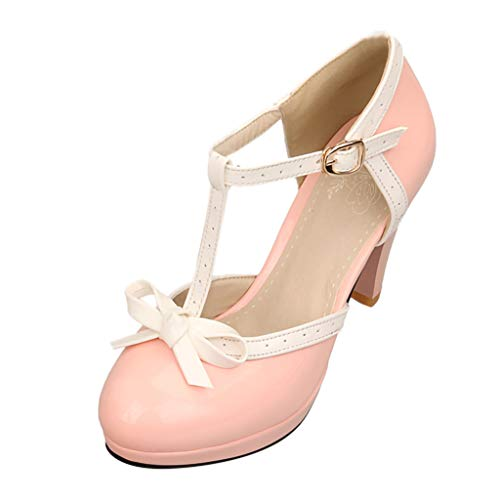 fe40535c Staron Clearance Retro Womens Non-Slip Sandals Thong Bow Buckle Strap Ankle  Party Shoes Pumps