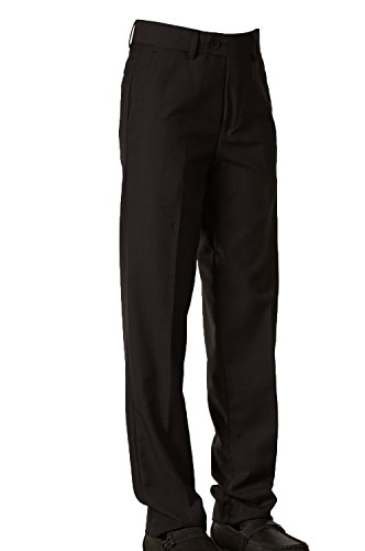 Tuxgear Fouger Boys Slim Black Dress Pants (10) by Tuxgear