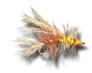 Stimulator - Olive Fly Fishing Fly - Size 14 - 3 ()