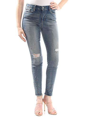 Jessica Simpson Women's Curvy High Rise Skinny Jeans, Alameda - Studs & Destruction, 30