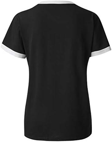 TOFOTL bluzka damska, z wycięciem na brzuch, dla kobiet, na lato, nadruk listÓw, z krÓtkim rękawem, tunika: Odzież