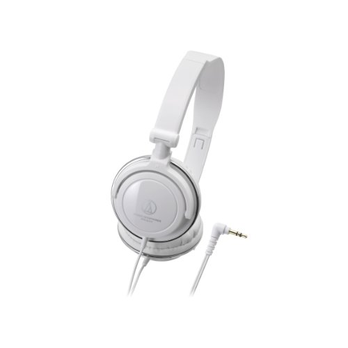 (Audio-Technica ATH-SJ11 SonicFuel Closed-Back Dynamic On-Ear Wired Headphones, White)