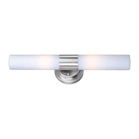 "ET2 Lighting E53007-11 2 Light Cilandro Bathroom Light - Width: 4.5""  Projection from wall: 4""  Height: 19"" Uses two 60 watt T10 Med F incandescent light bulbs Power supply required: 120 volts - bathroom-lights, bathroom-fixtures-hardware, bathroom - 31DLHh7sNlL. SS570  -"