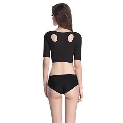 fd6e4d7bf9ea4 new Shymay Women s Shapewear Tops Wear Your Own Bra Short Sleeve Slim Crop  Top Shaper