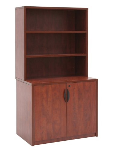 ch Storage Cabinet with Open Hutch- Cherry (Regency Cherry Cabinet)