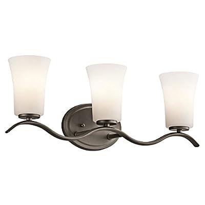 "Kichler Lighting Armida Olde Bronze 3 Arm Bathroom Wall Sconce w/ 3 Light 9W - Product Dimensions:8.5"" (H) x 23"" (W) Finish:Olde Bronze Material:Steel - bathroom-lights, bathroom-fixtures-hardware, bathroom - 31DLM2pAZWL. SS400  -"